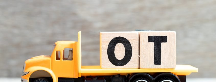 truck with blocks signifying overtime