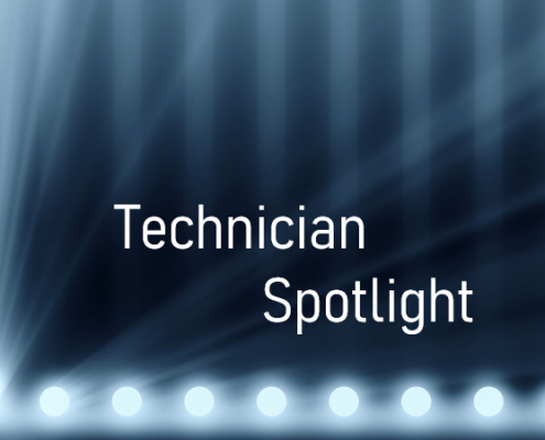photo highlighting the article is a technician spotlight