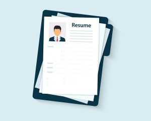 animated picture of a resume