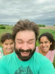 Josh and nieces